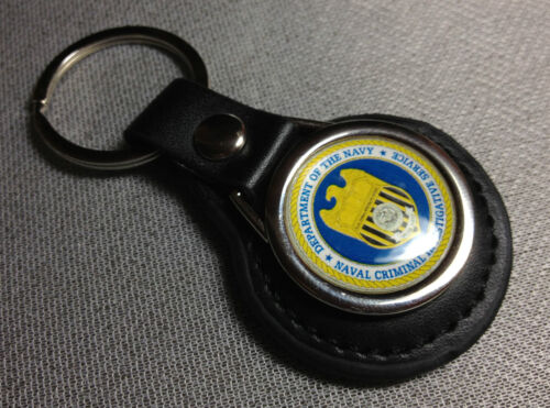 FREE NCIS  STICKERS NAVY N.C.I.S.LEATHER KEY RINGS /& BADGES U.S