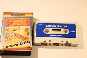 RARE-SONY-MSX-GAME-CANNON-FIGHTER-BY-MORWOOD-1984-CASSETTE-GAME