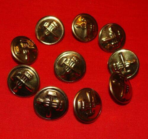Vintage Soviet Russian Railway Railroad Official Uniform 10 Buttons 13//22mm