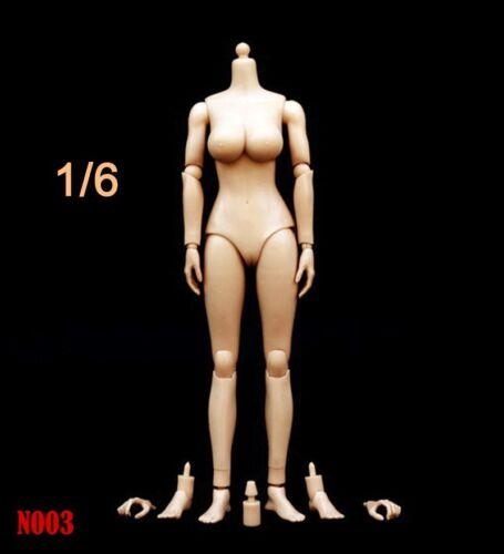 "1//6 Female Action Figure Medium//Large Bust Body For 12/"" Phicen Headsculpt"