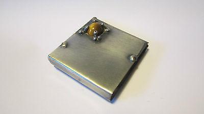 Fiducioso Porta Cerini Argentato Con Occhio Di Tigre.matchstick Case Copper Silver Plate
