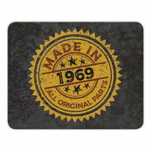 """Geburtsjahr Geburtstag Geschenk Mauspad Mousepad /""""Made in 1969/"""""""