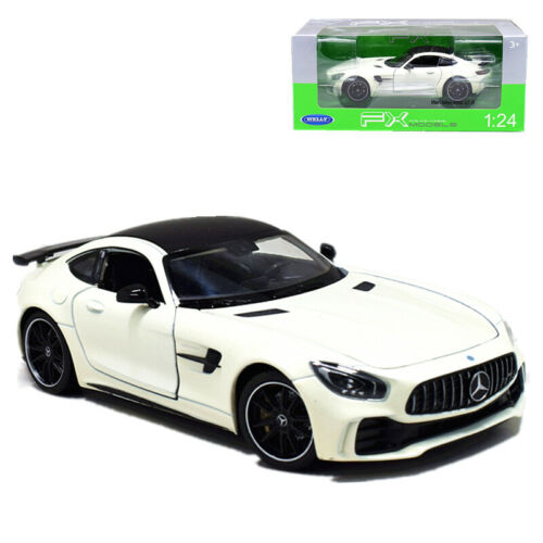 Welly 1:24 Mercedes Benz AMG GT R Metal Diecast Model Car White