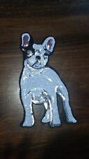 Patch Französische Bulldogge Hund Frenchie Bügelbild mit kleinen Pailletten