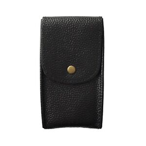 Watch-Travel-Pouch-Leather-Storage-Case-Handmade-Black