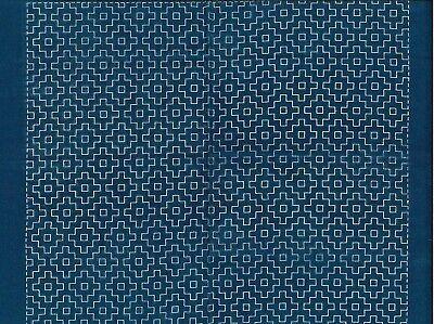 35 cm Width x 38 cm Length Indigo blue cloth 12 Japan sashiko stitch on the preprinted line