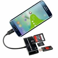 3 in 1 OTG On The Go Host Cable+ Micro SD TF Card Reader Adapter for Samsung