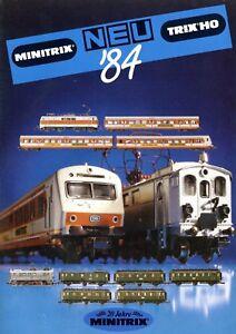 Trix-Minitrix-Neuheiten-1984-Prospekt-Modellbahnprospekt-brochure-model-railway