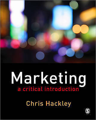 1 of 1 - Marketing: A Critical Introduction, Christopher E. Hackley, Used; Good Book