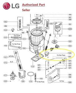 Genuine Lg Eau63464102 Lg Washing Machine Drain Motor Assy Ac Ebay
