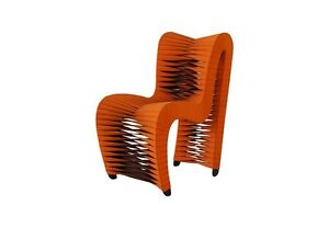 Magnificent Details About 33 High Seat Belt Dining Chair Orange Modern Contemporary Camellatalisay Diy Chair Ideas Camellatalisaycom