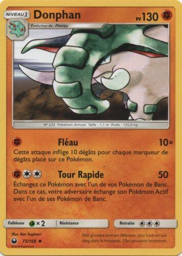 Pokemon Peu commune VF Français SL7-73//168 Donphan X2