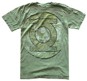 DC-Comics-Green-Lantern-Heavily-Distressed-Logo-Green-Men-039-s-T-Shirt-New
