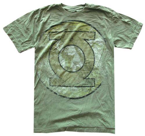 DC Comics Green Lantern Heavily Distressed Logo Green Men/'s T-Shirt New