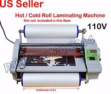 "Newly 110V High Speed 14"" Hot Thermal Laminator Machine With Digital Control"