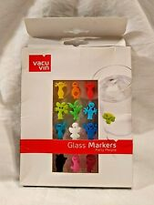 Colorful GLASS MARKERS Vacu Vin PARTY PEOPLE Wine Glass Sneaky Suction Cups IDs
