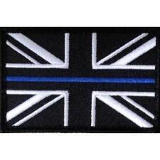 10 x Thin Blue Line Police Large  Union Jack Hook Loop Backed Patches UK Badge