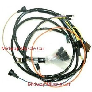 image is loading engine-wiring-harness-w-console-gauges-68-chevy-