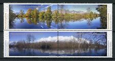 Liechtenstein 2017 MNH Nature Reserves Gampriner Seelein 4v Block Trees Stamps