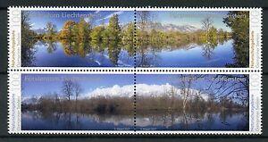 Liechtenstein-2017-neuf-sans-charniere-reserves-naturelles-gampriner-seelein-bloc-4-V-arbres-timbres