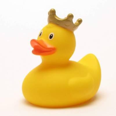 Badeente König gelb Quietscheentchen Gummiente Plastikente Quietscheente Ente