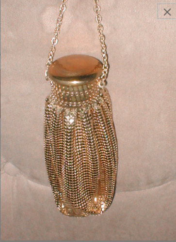 Antique Whiting & Davis Gold Metal Mesh Purse with