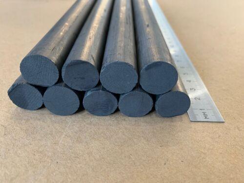 D18mm L255mm 3//4/'/'x10/'/' 2Pcs// NEW Carbon Rod Graphite Welding Electrode