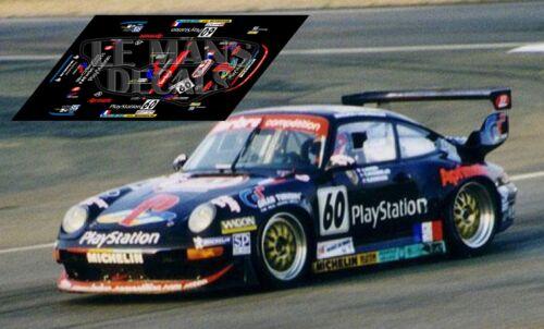 Calcas Porsche 911 GT2 Le Mans 1998 60 1:32 1:43 1:24 1:18 slot decals