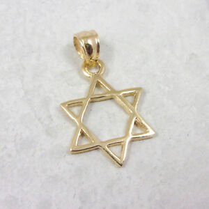 Details about solid 14k yellow gold star of david cross pendant 14 grams jewish image is loading solid 14k yellow gold star of david cross aloadofball Gallery