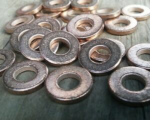 20pc Metal Stamping Blanks Bronze full Washers Made In USA 22mm x 2mm