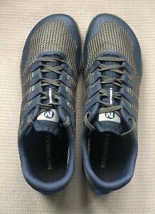 Merrell J62281 Men's Size 10 - Trail Glove 5 Sneaker Gray Blue Running Shoes