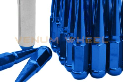 1 Socket Key Mustang Old Model 12pc Replacement 1//2-20 Blue Spike Lug Nuts