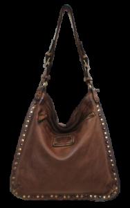 BS 323 Rock Brown Umhängetasche aus Leder Vintage Bayside 84 Made IN Italy Art