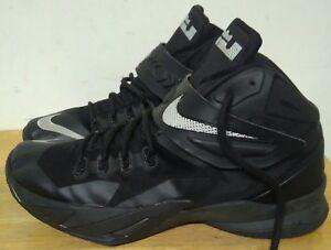 7f08a2aa935 Nike Zoom Soldier VIII Black Metallic Silver 653641 001. Size 11.5 ...