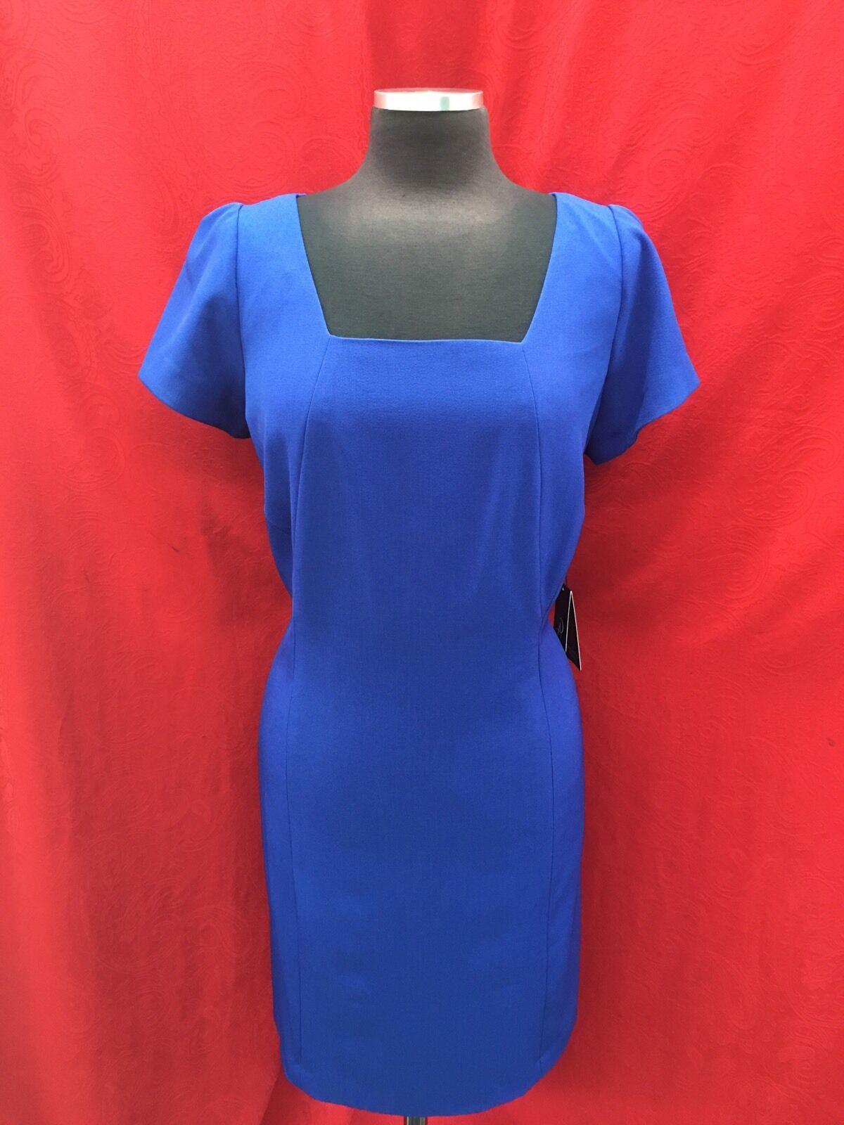 bb2339c2f51 ADRAINNA PAPELL DRESS DRESS DRESS NEW WITH TAG SIZE 18W RETAIL 160 LENGTH  39  ROYAL ...