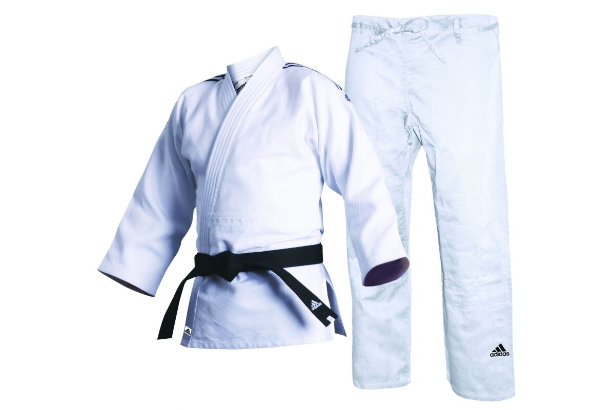 Adidas Judoanzug Quest Gi Judo Judo Judo Uniform Contest 690G Weiß Herren Damen Erwachsene e819d9