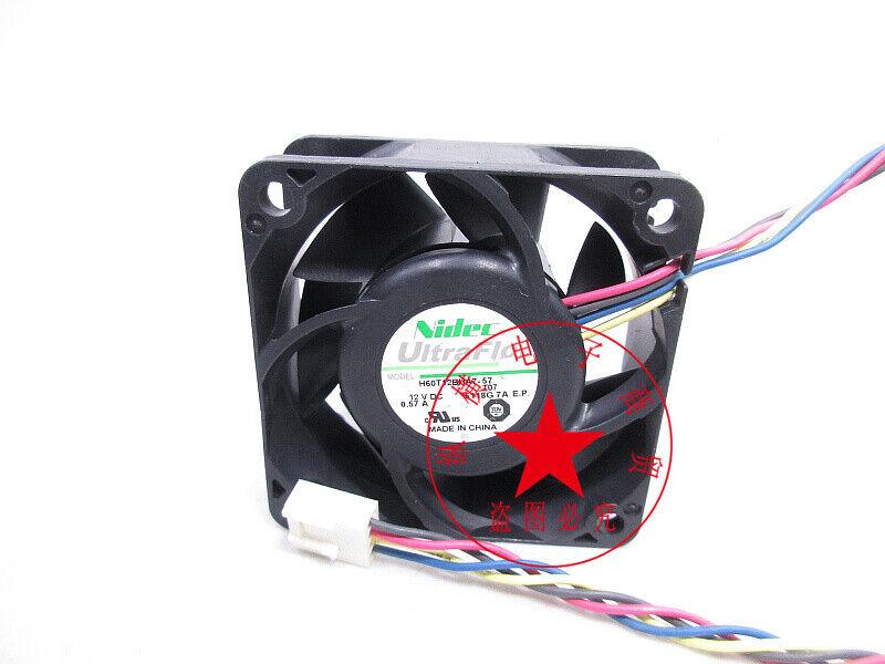 1PC NIDEC H60T12BHA7-57 6CM 6025 12V 0.57A Gale volume cooling fan