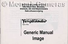 Voigtlander R2 S C Camera Instruction Book, More Listed