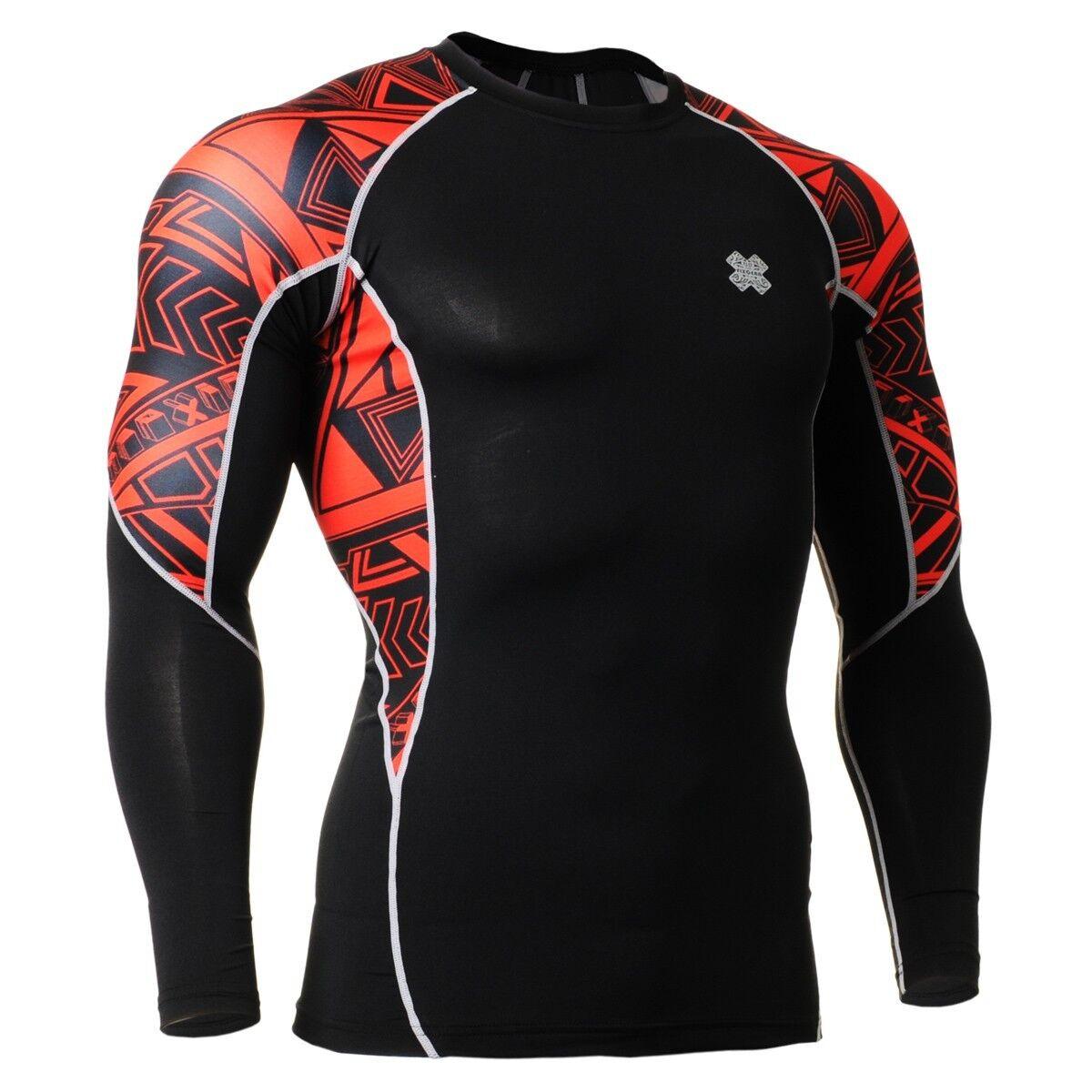 FIXGEAR C2L-B2 Compression Base Layer Shirt for Workout Gym MMA Sportswear
