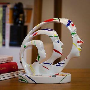 Post-modernism faces-Hand-cra<wbr/>fted Home Office Decor Sculptures As Artistic Gift