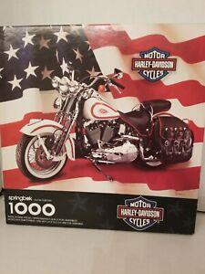 Springbok-Rompecabezas-1000-Harley-Davidson-motorcycles-vintage-1998-24x30-pulgadas