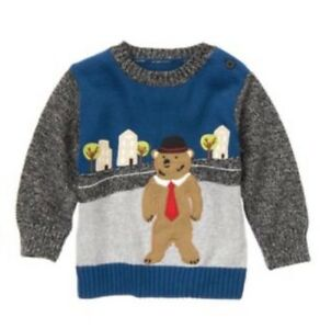 Gymboree Boys Sweaters Pull Over Baby 3-6 mo Train Toy Soldier Holiday Green