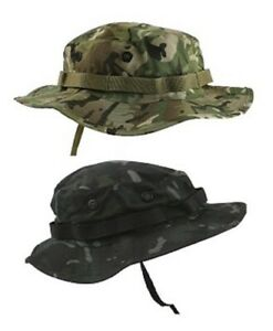 4618d823a4827 BOONIE US STYLE JUNGLE HAT IN BTP OR BTP BLACK ARMY MILITARY | eBay