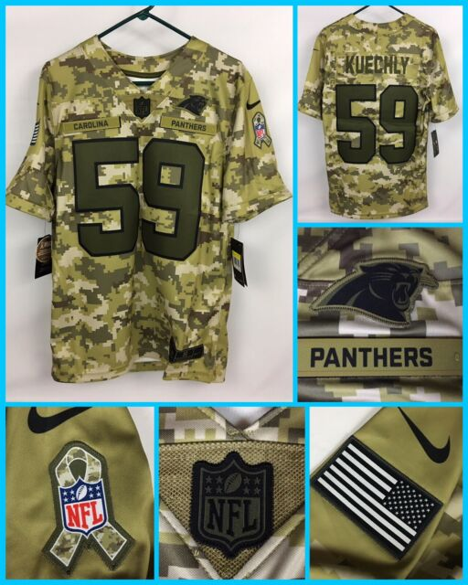 the best attitude e5878 552e3 NWT Men's LUKE KUECHLY Carolina Panthers CAMO Salute To Service Military  Jersey
