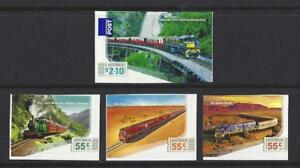 Australia-2010-GRAN-australian-railways-Juego-de-4-Autoadhesivo-Nuevo-sin-montar