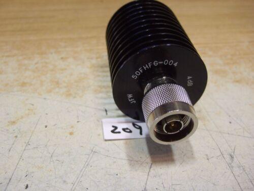 JFD 50FHFG-004 Attenuator New! 4 dB 20W N 200 MHz