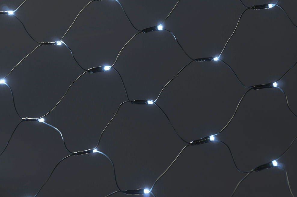 negozio outlet Luci LED rete 320 LED BIANCO BIANCO BIANCO freddo-Esterno + Interno-rete luce catena luminosa bianca  più economico