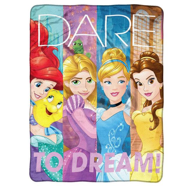 disney princess blanket plush microfiber throw twin dreamers 46in