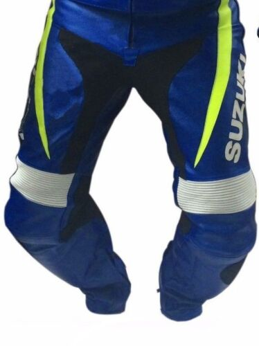 GSXR SUZUKI MEN LEATHER TROUSER MOTORBIKE//MOTORCYCLE LEATHER RACING TROUSER//PANT