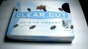 2018-19-Upper-Deck-Clear-Cut-Hockey-Hobby-Box-Break